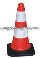 Plastic Cone Body Rubber Base PE Traffic Cones