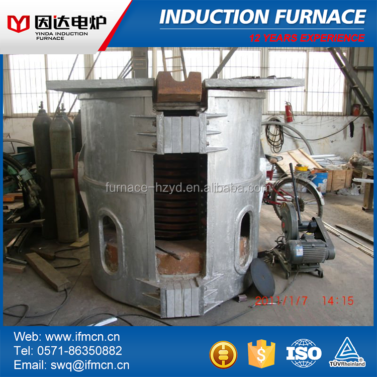 Medium frequency industrial coal gas burning heating melting furnace