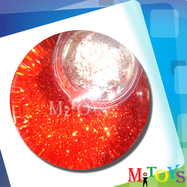 2014 New Hollow TPU Super High Bouncing Flashing Hi Bounce Crystal Ball