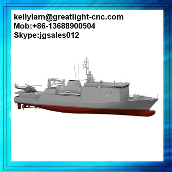 3d printing war ship model rapid prototype, ABS RESIN 3d naval ship model 3d printer with color painting