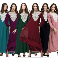 new design women long sleeves loose muslim kaftan without belt