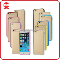 China Manufacturer Wholesale Multi Color Strong Ultra Thin Slim Aluminum Metal Bumper Case for Iphone 6