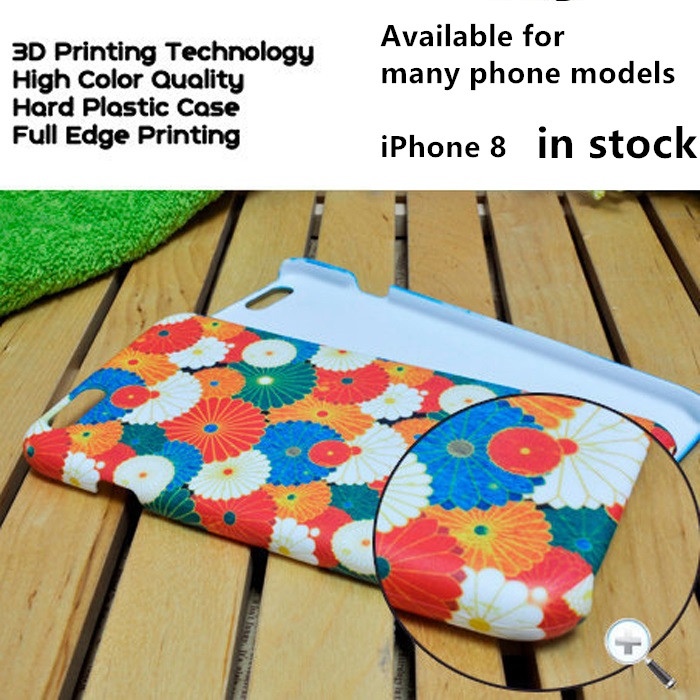 JESOY 3D Blanks dye Sublimation Phone Case Cover For iphone 8 7 6 6 plus