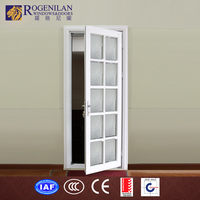 Rogenilan new aluminum frame unbreakble shatterproof glass sunburst entry door