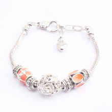 17-21cm silver plated snake chain lobster clasp European fashion bracelet BL1003