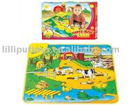 Fun farm musical baby play mat,baby toy