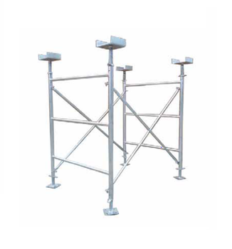 TSX189617 Electro Galvanized Metal Double Standard A Ladder Frame Scaffolding