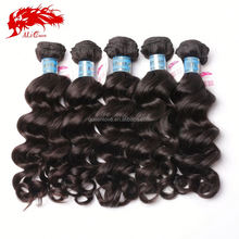 New product unprocessed hair wave virgin peruvian black color natural wavy weaving hair