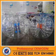 New discount giant plastic ball air bubble ball with colored handles