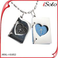 Tibetan silver alphabets pendant designs heart shaped photo frame pendant