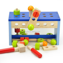 Wooden children nut combination elephant toolbox nut to assemble the combination of puzzle assembly toy tools