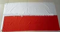 Poland national flag by screen printing