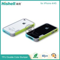 China supplier wholesale tpu bumper double color case for iphone 5 case