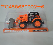 Cheap price plastic <strong>friction</strong> farm trucks toy for sale FC458639002-6