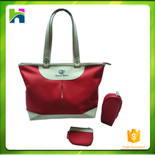 hot sale & high quality Baby Diaper Nappy Bag Mummy bag with Leather