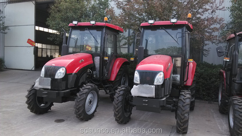 High Quality! YTO 45hp 4WD tractors YTO 454 with 3 cylinder for Sudan,front end loader ,backhoe is available