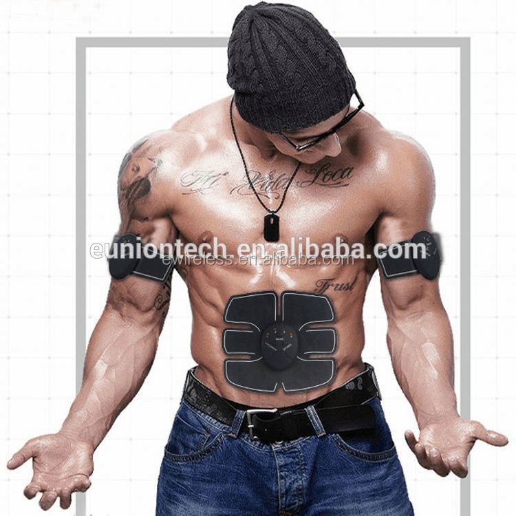 Mini Electric Stimulation Muscle Stimulator Electronic Pulse Muscle Stimulator With 3 Gel Pads