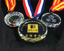 Crystal Glass Shaped Medallion Medal MH-J0619