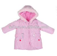 Pink girls down jacket lovely girls clothes