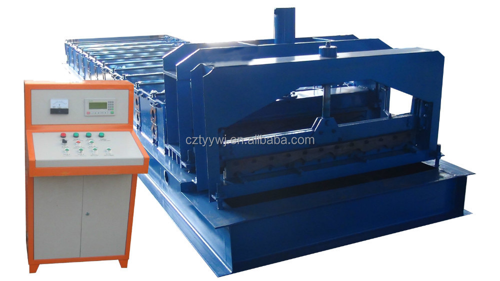 Russian popular TY 1100 producing metal tiles equipment from china for the small business tile making machine profile