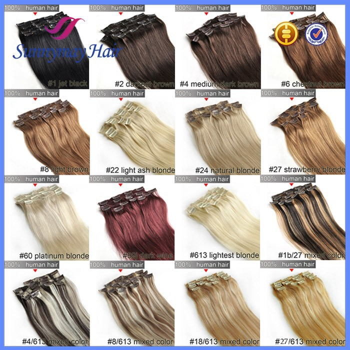 Factory Wholesale Price Clip In Remy Human Hair Extensions 120g