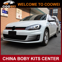 Excellent fitment PP material GTI Auto body kit for VW golf 7(front bumper,rear diffuser,side skirts)