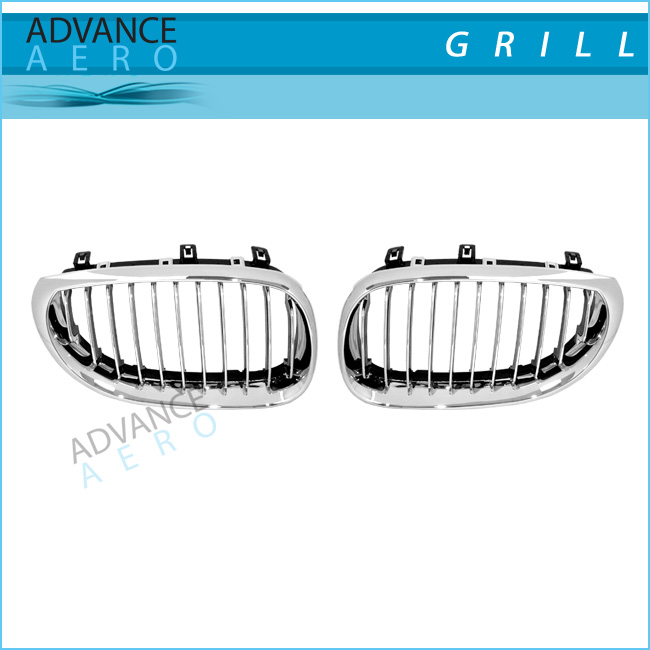 FOR 2003-2009 BMW 5 SERIES E60 X TYPE STYLE CHROME ABS FRONT GRILL GRILLE