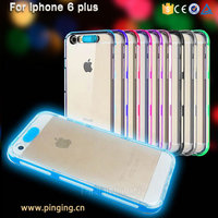 Brand New design electroplate pc tpu cell phone flashing case for iphone 6plus iphone 6s plus