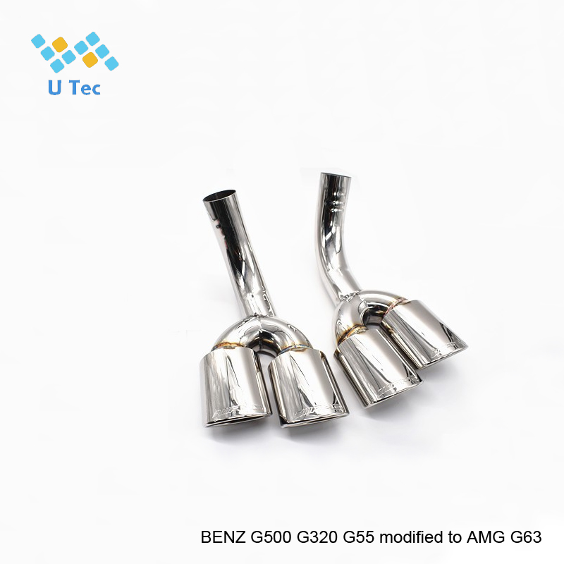 automotive stainless steel 304 carbon fiber exhaust <strong>muffler</strong> for ben z AMG G500 G320 G55 modified to G63
