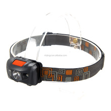 3W ABS 160 lumen water resistant with red led light miner headlamp