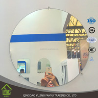 4mm high quality clear round shape custom bathroom mirrors wholesale china