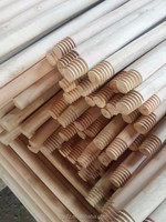 Wooden Natural Broom Sticks with Italian Thread
