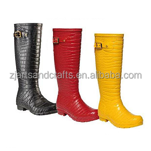 Crocodile grain ladies waterproof winter warm snow woman boot