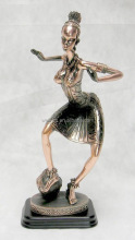 metal crafts dancing lady figures,tin alloy statues,zinc alloy woman sculptures