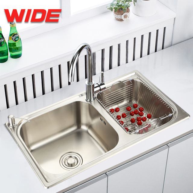 China high quality double bowl stainless steel kitchen sink manufacturer