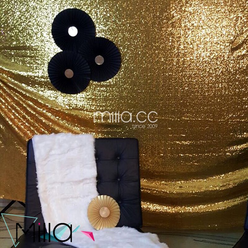 Gold Sequin Wedding Backdrop