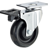 Top Plate Antistatic Swivel Caster Esd