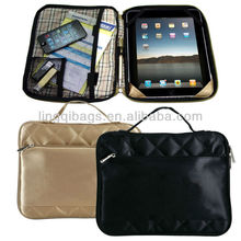 10 Inch Stylish Slim Foam Quilted iPad or Tablet Protective Case with Plaid Liner