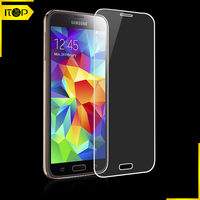 For Newest mobile phone Samsung S5 0.33mm rounded edge HC tempered glass screen protector