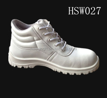 Anti-static white microfiber leather food industrial worker safety shoes/boots
