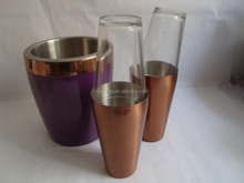 copper plating stainless steel cocktail shaker