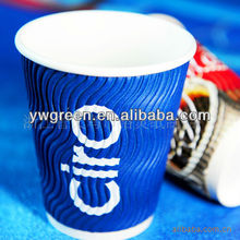 disposable blue striped paper cups for cofee