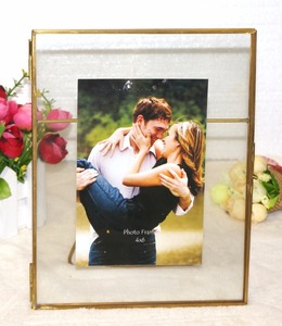 home decoration vintage picture frame table stand metal photo