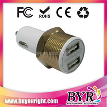 2 port total 4.2a current USB auto car charger