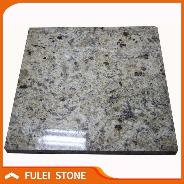 Outdoor Iron Table Bases for Giallo Brazil Granite Tops Slab Exporting
