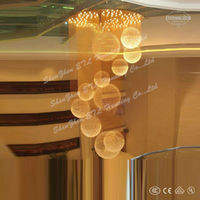 2013 newest big modern hotel crystal chandeliers from china ETL82044