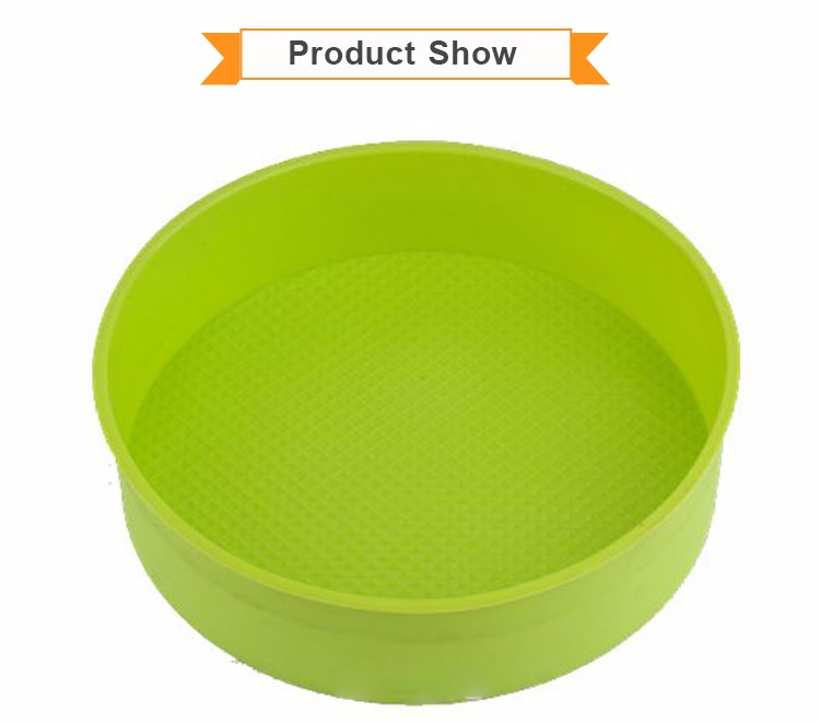 Chocolate Muffin Cake Baking Tray Silicone Round Moulds Pan