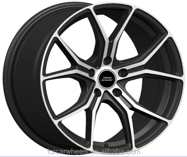"auto car aluminum alloy wheel rim 17"" 18"" pcd 5x100 5x120 wheels for car"