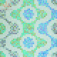 mosaic for wall paper picture pattern of glass tile (MP874A)