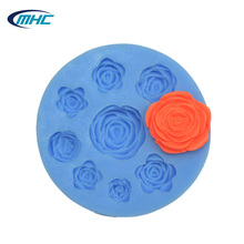 New cupcake topper decoration blooming rose fondant mold